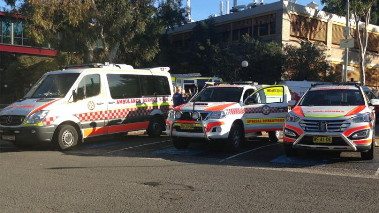 Ambulances attending UOW