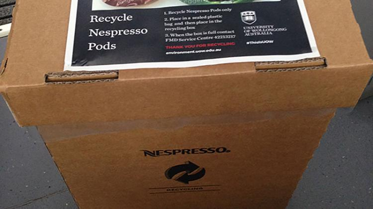 nespresso coffee pod recycling collection point