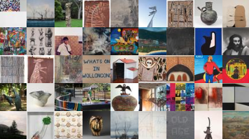 collage of UOW Art collection works