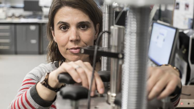 Dr Ana Heitor Geotechnical Engineer with tools of the trade