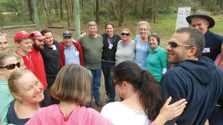 Nursing students and participants enjoy outdoor activities at Recovery Camp