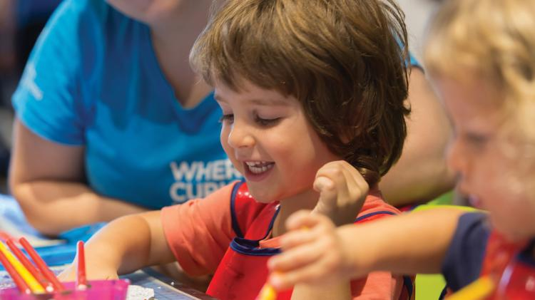Boy preschooler at Early Start Discovery space