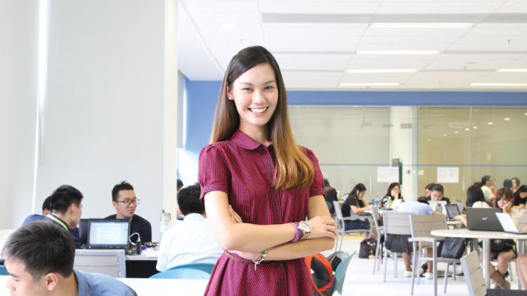 Female student in Hong Kong