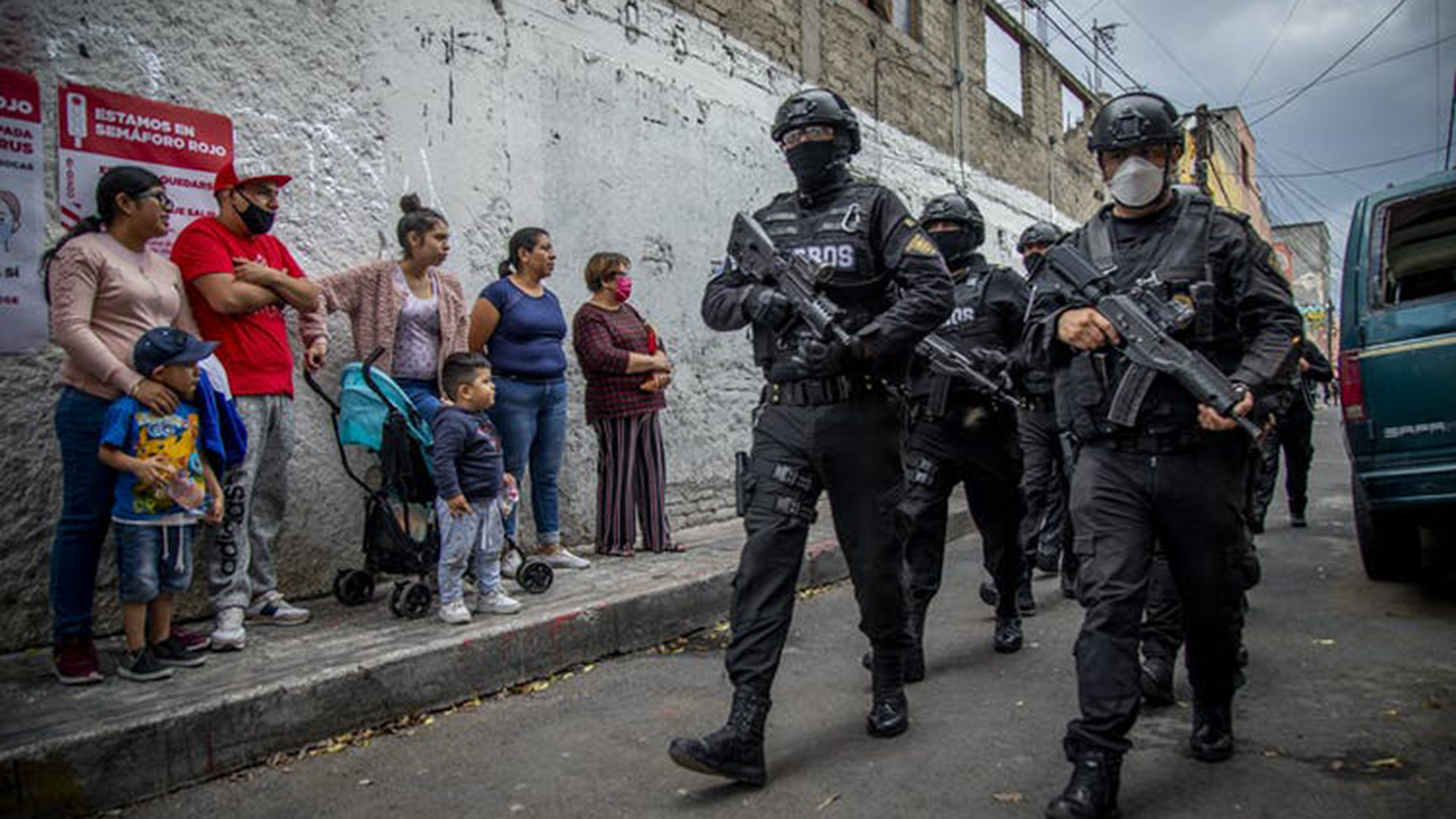 Heavily armed police in Mexico. Getty Images