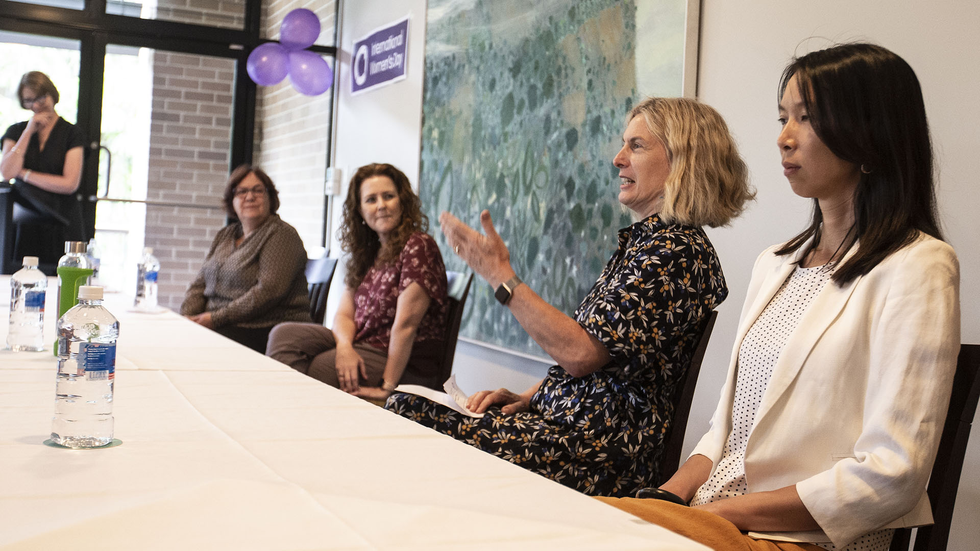 Panel discussion members at the UOW International Women's Day 2021 celebration