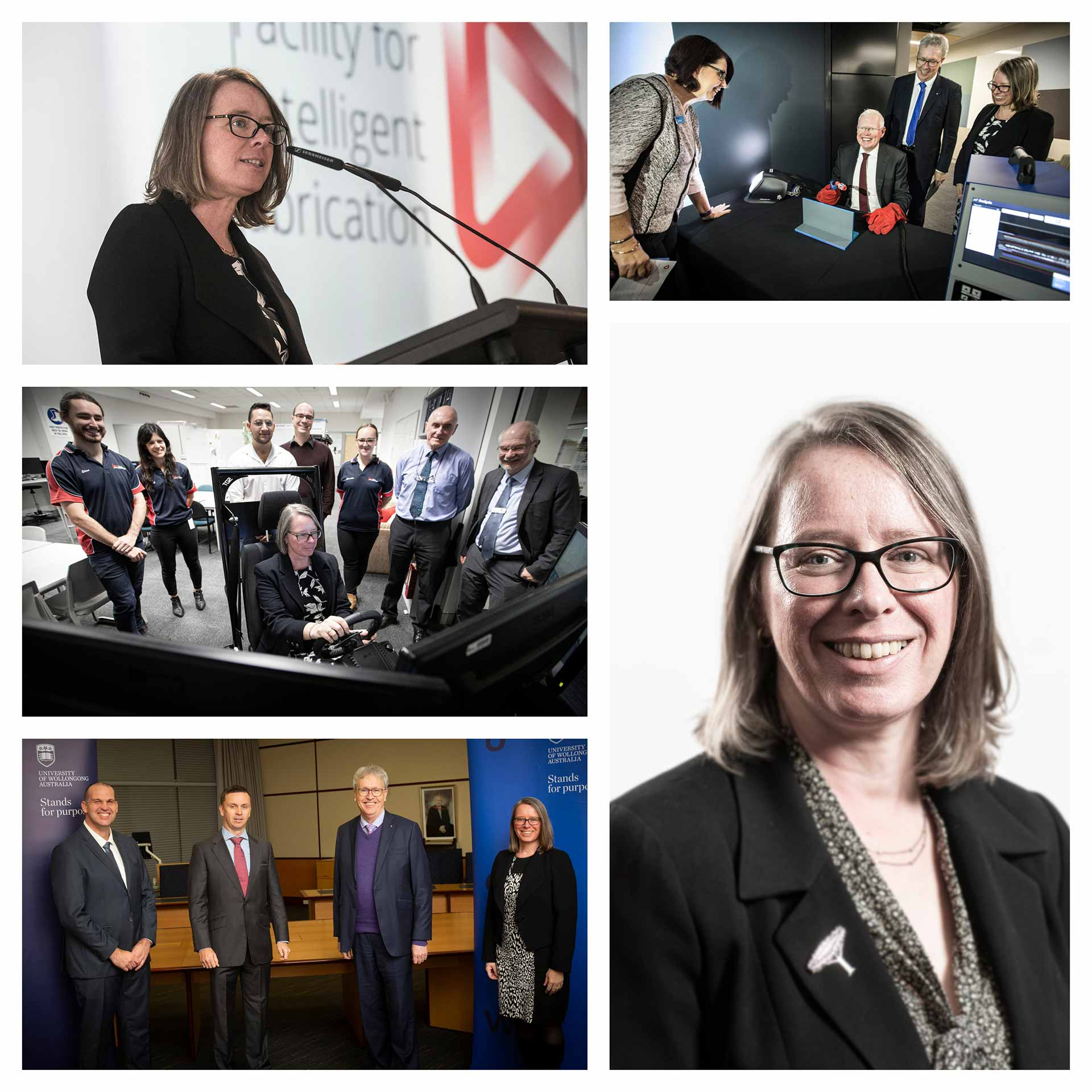 Collage of images of Professor Valerie Linton
