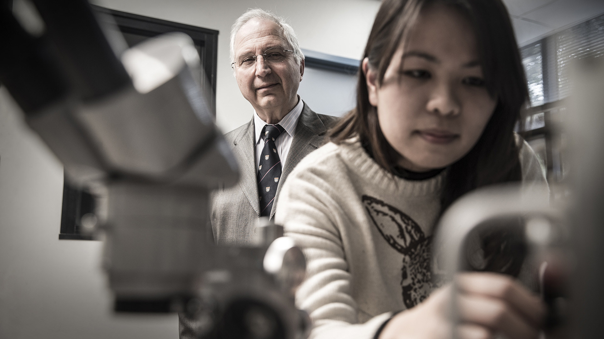 UOW scientists join European Space Agency lunar missions team  - Anatoly Rozenfeld and Dr Linh Tran - UOW scientists join European Space Agency lunar missions team