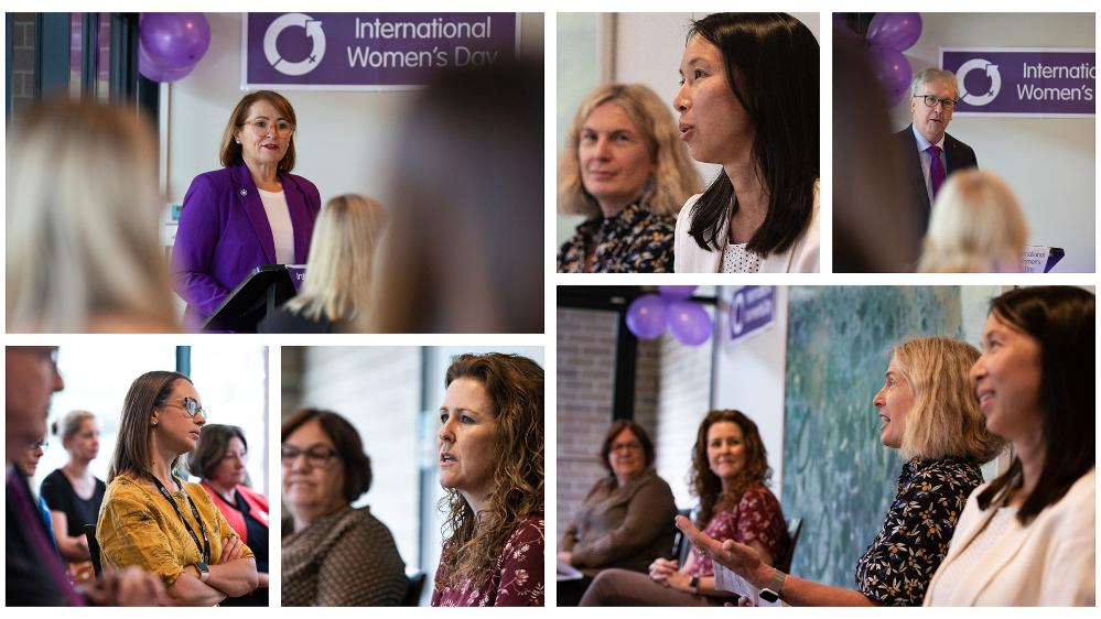 A colage of images from the UOW International Women's Day 2021 celebration
