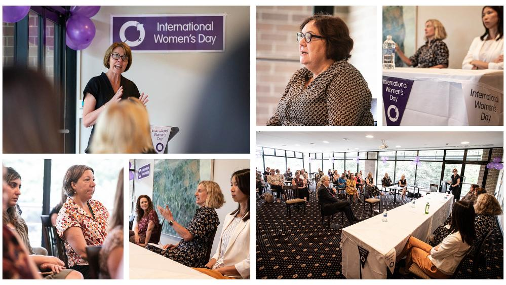 A collage of images from the UOW International Women's Day 2021 celebration