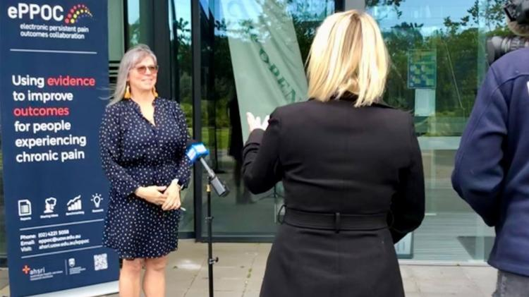 Janelle White, Acting Director of the electronic Persistent Pain Outcomes Collaboration (ePPOC) at the University of Wollongong interviewed during pain week