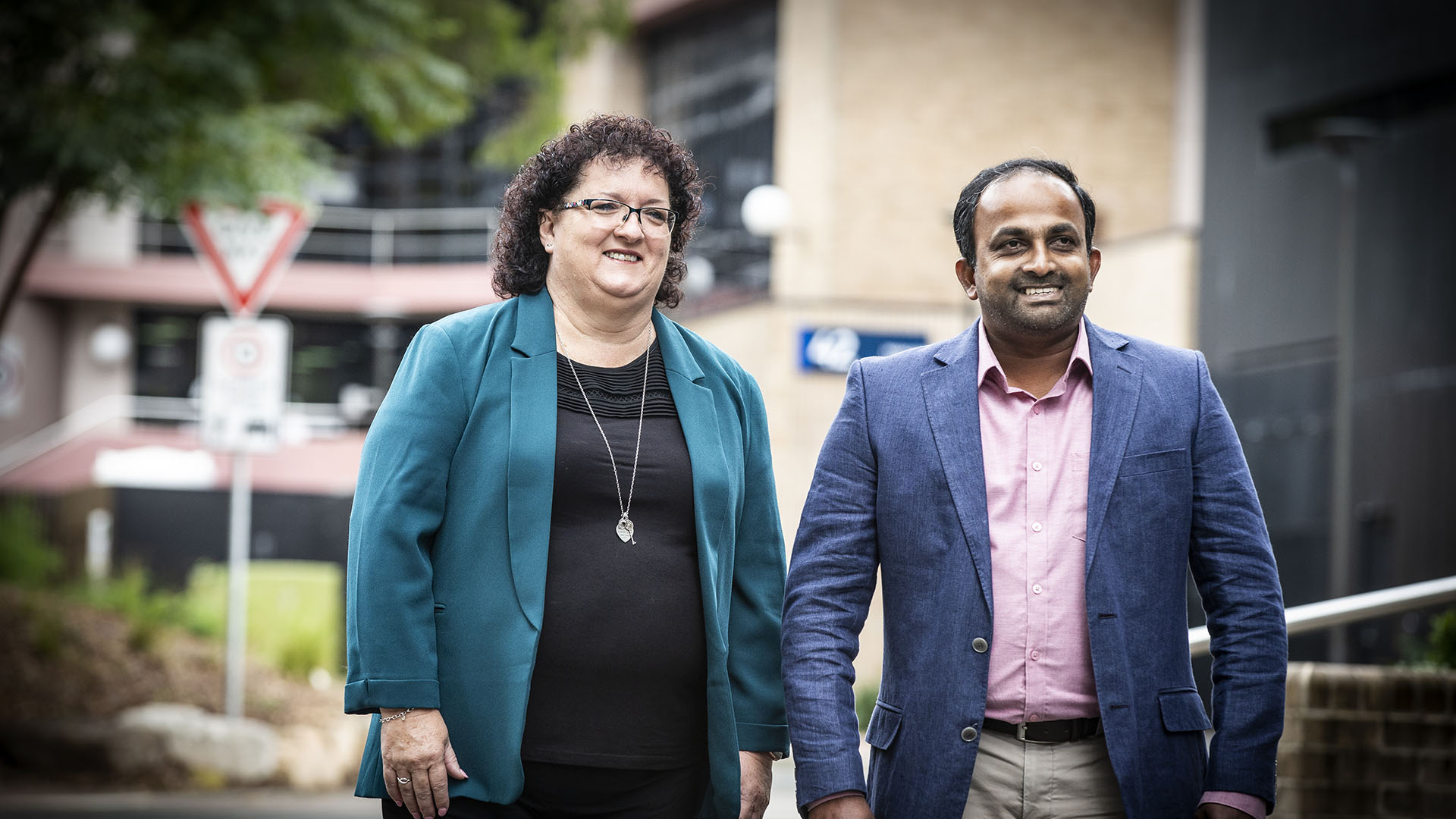 SMART Infrastructure Facility COO Tania Brown and researcher Dr Rohan Wickramasuriya