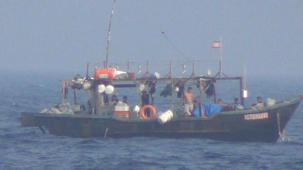 A North Korean fishing boat in Russian waters